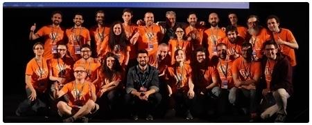 Foto final evento WordCamp Madrid 2018 con todos los voluntarios