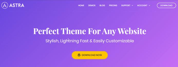 Tema Astra ideal para cualquier sitio web